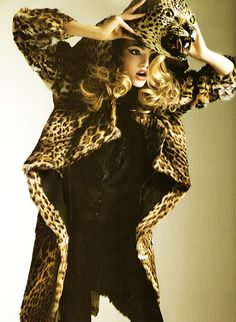 A Sheepish Model in Leopard Clothing.