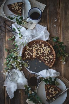 Crostata al cocco, ciocco e mandorle 5