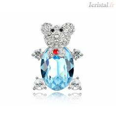 DAN'S New Sales Genuine Austria Crystal Brooches For Women Valentine's Gift Swarovski, Crystal Brooch, Jewelry Sets, Valentine Gifts, Christmas Bulbs, Teddy Bear, Holiday Decor, Green, White Colors