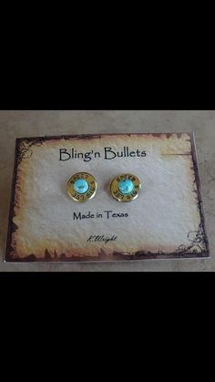 Bling'n Bullet Earrings on Etsy, $25.00
