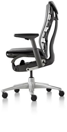 Embody chair by Herman Miller Cool Office Desk, Office Set, Office Workspace, Office Ideas, Office Designs, Office Chairs, Space Furniture, Office Furniture, Work Chair