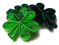 St Patrick's Day Shamrock Ornament Set of Six by WintergreenDesign, $17.00