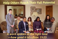 Wednesday, May25A word spoken at the right time—how good it is!—Prov. 15:23.We can stimulate fellow believers to make spiritual advancement by working along with them. An elder might ask a young brother who is good at using computers to print some information from jw.org that could be encouraging for the elderly ones who do not have computers. Or if you are involved in doing work around the Kingdom Hall, why not invite a young brother to work along with you? Such initiatives will give you…