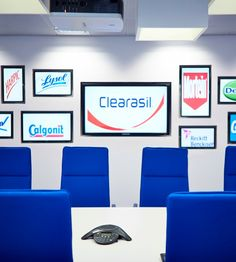 Overbury worked with Reckitt Benckiser to fit out their Slough office. Office Meeting, Meeting Rooms, Office Fit Out, Case Study, Workplace, Innovation, Pride, Gallery Wall, Branding