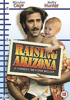 RAISING ARIZONA (1987): When a childless couple of an ex-con and an ex-cop decide to help themselves to one of another family's quintupelets, their lives get more complicated than they anticipated. Funny Movies, Comedy Movies, Great Movies, Film Movie, Funniest Movies, Awesome Movies, Movies Free, 80s Movies, Nicolas Cage