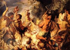 Lapiths and the Centaurs - Jacob Jordaens