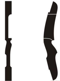 Arqueiros BR: Projeto de Riser para Arco tamanho real para download (7 modelos)