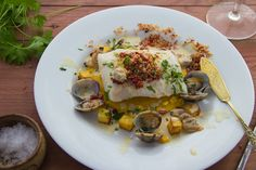 In July this year, North Sea cod was added onto the list of sustainable fish that you're encouraged to eat. Clam Sauce, Fish And Chip Shop, Panko Crumbs, Clam Chowder, North Sea, Fish And Chips, Sous Vide, Clams, Cod