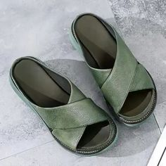 Style:Fashion,Casual Gender:Women Upper Material:PU Outsole Material:Rubber Shoes Style:Slip-On Heel Type:Low Heel Womens Summer Shoes, Womens Shoes Wedges, Thick Heels, Low Heels, Sport Sandals, Slide Sandals, Peep Toe Platform, Fashion Sandals, Ciabatta