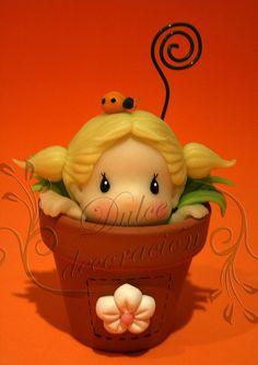 *COLD PORCELAIN ~ hada maceta 05 by Dulce decoración (modelado - tartas decoradas), via Flickr