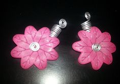 Pink Spinning Flower Loc Jewel Slide 2 pc Simply by NaturalJaurney, $12.00