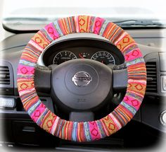 Steering wheel cover bow wheel car accessories lilly heated for girls interior aztec monogram tribal camo cheetah sterling chevron on Etsy, $12.90