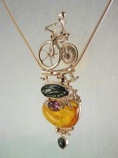 Gregory Pyra Piro #Schmuckkunst Silber und Gold mit #Edelsteinen Unikat…