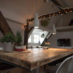 Beton-Lampe für Esszimmertisch www.smart-concretes.com