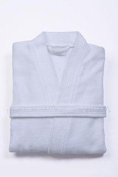 79ade275ef Terry Cloth Hotel   Spa Bathrobe - White Kimono Fashion