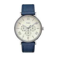 Timex Men's Southview Leather Watch - TW2R29200JT, Blue