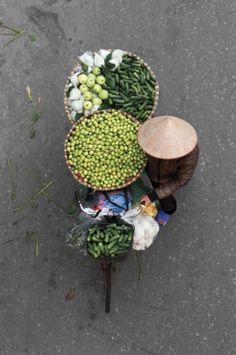 Selvedge Magazine MERCHANT'S CARGO Loes Heerink captures Vietnamese street vendors from above