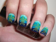 Turtles! 14 Brilliant Beach-Inspired Manis to Try This Summer via Brit + Co.