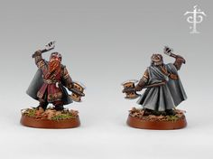 """Gimli at Amon Hen, from Games Workshop's """"Lord of the Rings"""" line 28mm Miniatures, Fantasy Miniatures, Lotr Games, Mines Of Moria, Fantasy Dwarf, Warhammer Figures, Battle Games, Game Workshop, Art Model"""
