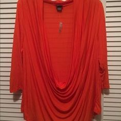I just discovered this while shopping on Poshmark: Orange Shrug Shirt. Check it out!  Size: 3X