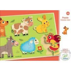 Puzzle bois coucou prairie - Djeco