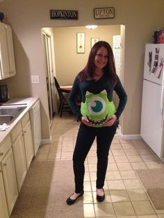 pregnant halloween costume mommy will be mike dad and toddler will be - Pregnant Costumes Halloween