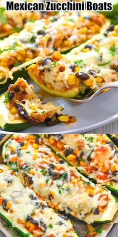 These delicious Mexican Zucchini Boats are so flavorful and scrumptious. This is the perfect dish if you love vegetarian dishes with some kick.  FOLLOW Cooktoria for more deliciousness! If you try my recipes - share photos with me, I ALWAYS check! Healthy Vegetable Recipes, Vegetable Dishes, Vegetarian Recipes, Vegetarian Mexican, Vegetarian Zucchini Boats, Mexican Zucchini, Zuchinni Recipes, Baked Salmon Recipes, Ww Recipes