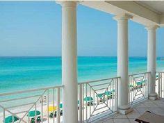 Gorgeous view from the pet friendly Destin's Dreamer. #ocean #beach #columns