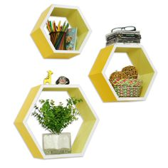 TheDealCutters - Charming Passion Hexagon Leather Floating Wall Shelf (Set of 3), http://stores.thedealcutters.com/charming-passion-hexagon-leather-floating-wall-shelf-set-of-3/)