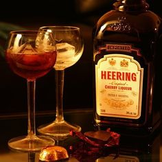 Cherry Heering 2 Ways for Valentine's Day — Straight Up Cocktails and Spirits