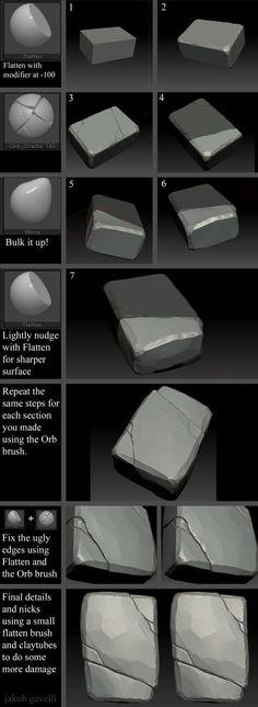 ArtStation - Brick Tutorial, Jakob Gavelli