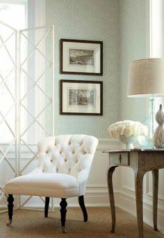 Design Is In The Details: Introducing Thibaut Fine Furniture! Living Room Colors, Bedroom Colors, 4 Wallpaper, Geometric Wallpaper, Trellis Wallpaper, Beautiful Wallpaper, Wallpaper Panels, Wallpaper Ideas, Fine Furniture