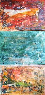 my artwork - aqua vitae: 5nov16 Painted Background pages for art Journaling...