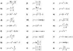 Vyšetri priebeh danej funkcie a načrtni jej graf Math Equations, Random, Casual