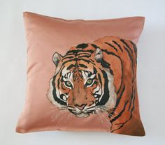 Tiger Pillow Cover Decorative Cushion by FennekArtDesign on Etsy