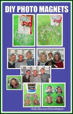 Do it Yourself Photo Magnet Instructions, Simple Craft for Father's Day