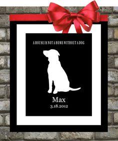 Golden Retriever Custom Pet Gift 8x10 Art Print  by Printsinspired, $18.99
