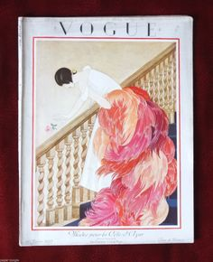 French Vogue Magazine January 1 1925 George Plank Art Deco Beautiful | eBay