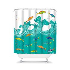 Olive Pirate Shower Curtain