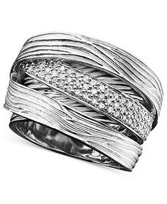 Balissima by Effy Collection Sterling Silver Ring, Diamond Wrap (1/3 ct. t.w.) - Rings - Jewelry & Watches - Macy's