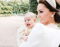 Adorable Prince Louis of Cambridge and his mother