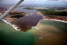 Encontro do Rio Potengí com o mar - Natal RN