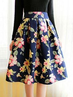 Clothes Vintage High-Waisted Floral Print Ruffled Women's Midi Skirt - Cheapest and Latest women Pleated Midi Skirt, Dress Skirt, High Waisted Skirt, Midi Skirts, Midi Skirt Floral, Ruffle Skirt, Denim Skirt, Waist Skirt, Lace Dress