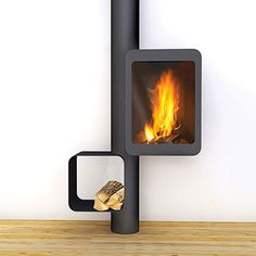 Log burner with a difference for cave house in Spain? Hanging Fireplace, Home Fireplace, Modern Fireplace, Fireplace Design, Focus Fireplaces, Rocket Stoves, Log Burner, Deco Design, Home Deco