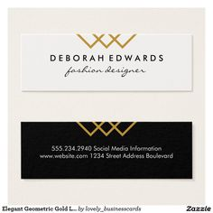 Elegant Geometric Gold Lines Black White Mini #businesscard #geometric #geometricgold #eventplanner #minimalist #creativeprofessional #lifestyleblogger #personalstylist #designstudio #modelagency #entrepreneur #fashion #weddingplanner #fashionstylist #geometricdesign #stylish #partyplanner #fashiondesigner #designfirm #contemporary #freelancer #goldsquares #modernistic #gold #modern #fauxgold #elegant #squares #lines #cursive #lawfirm #lawyer #attorneyatlaw #fancy #goldlines #retro #chic…
