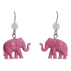 Tarina Tarantino Tiny Caravan Pink Lucite Elephant Pierced Earrings