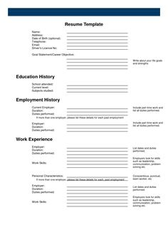 Free Printable Sample Resume Templates - http://www.resumecareer.info/free-printable-sample-resume-templates-19/