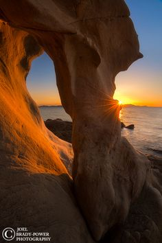 Sandstone Sunburst - Larrabee State Park, near Bellingham Washington has many hidden gems along its sandstone shores