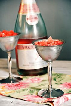 Strawberry Champagne Granita -- a MUST for round 2 of our Coven Galentines's Day Party.