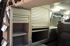 Storage units in the rear of the Viano Marco Polo